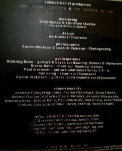 Album Dark Sexual Charisma Copyright / Tous droits réservés : Ludovic HOAREAU